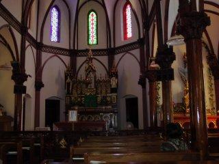 Interior of Aosagaura Church