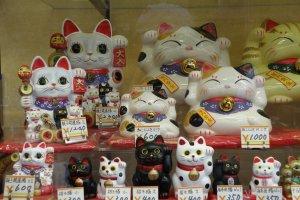 แมวกวักก็มีขายที่ถนนนากามิเสะ