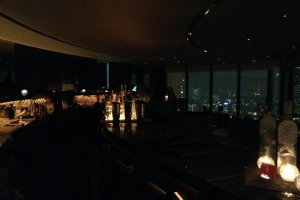 The relaxing and romantic interior of the Sky Lounge is a perfect ending to a Tokyo day.