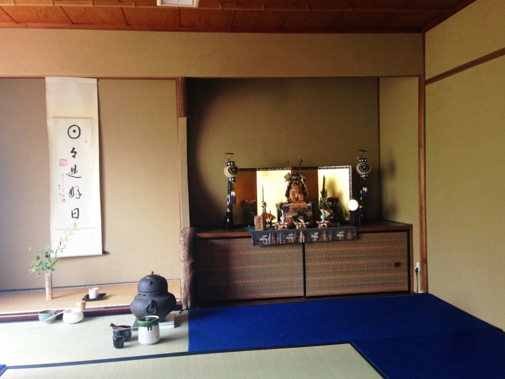 The Samurai display is a symbol of strength and wisdom for the Children's Day festivities