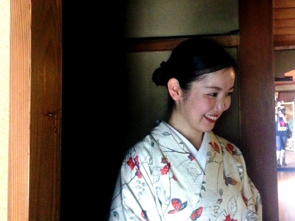 Atsuko taking us on a journey to the heart of Japanese culture at her tea house