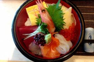 Succulent sashimi.
