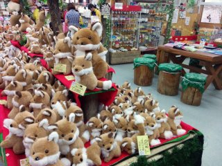 It is no surprise what is sold in the Fox Village gift shop