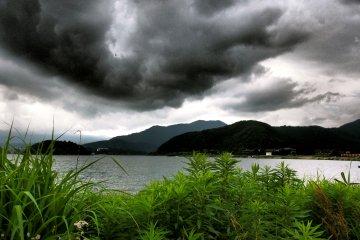 Stormy Skies over Kawaguchi-ko