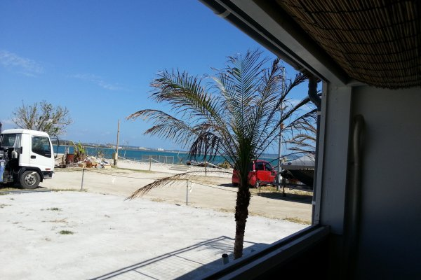 Beach view from front