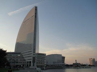 The InterContinental Yokohama Grand overlooks Minato Mirai 21 and the sea