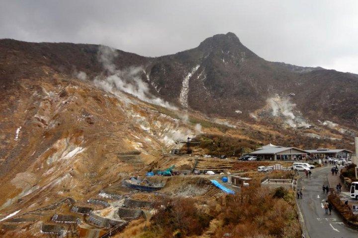 La Vallée Ōwakudani à Hakone
