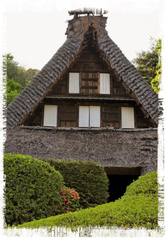 บ้าน Emukai จากจังหวัดโทะยะมะ (ปลายศตวรรคที่ 17)