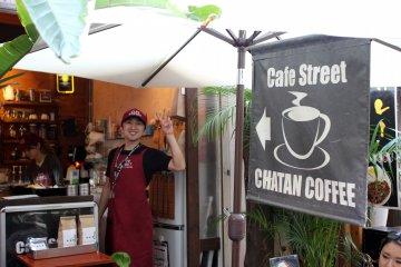 Chatan Coffee Cafe di Naha, Okinawa