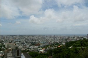 A view from the castle towards Naha