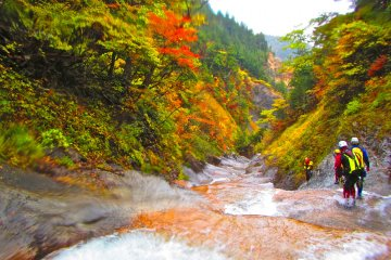 Canyoning on the Namekawa