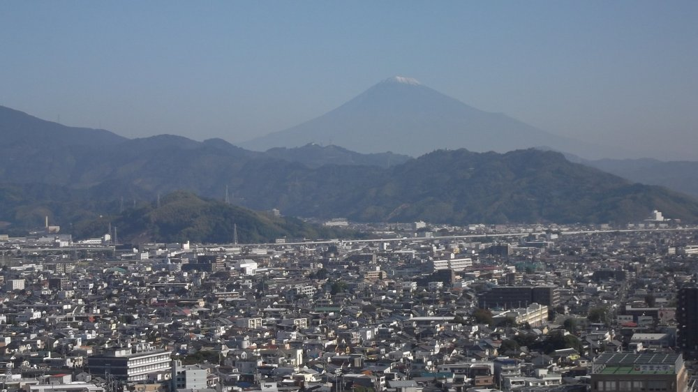 On a clear day you can see Mount Fuji
