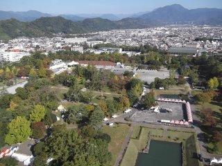 Sunpu Park seen from above