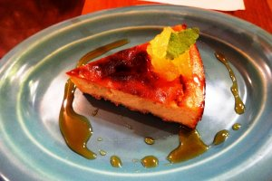 Tofu cheesecake with pineapple topping
