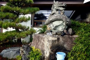 A dragon water god
