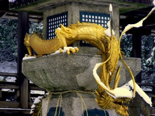 Honkokuji's magnificent dragon must have a cold nose!