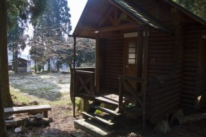 Cabin 3; in late March there was no one around