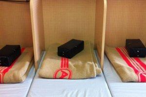 A mattress room on the Akenobono