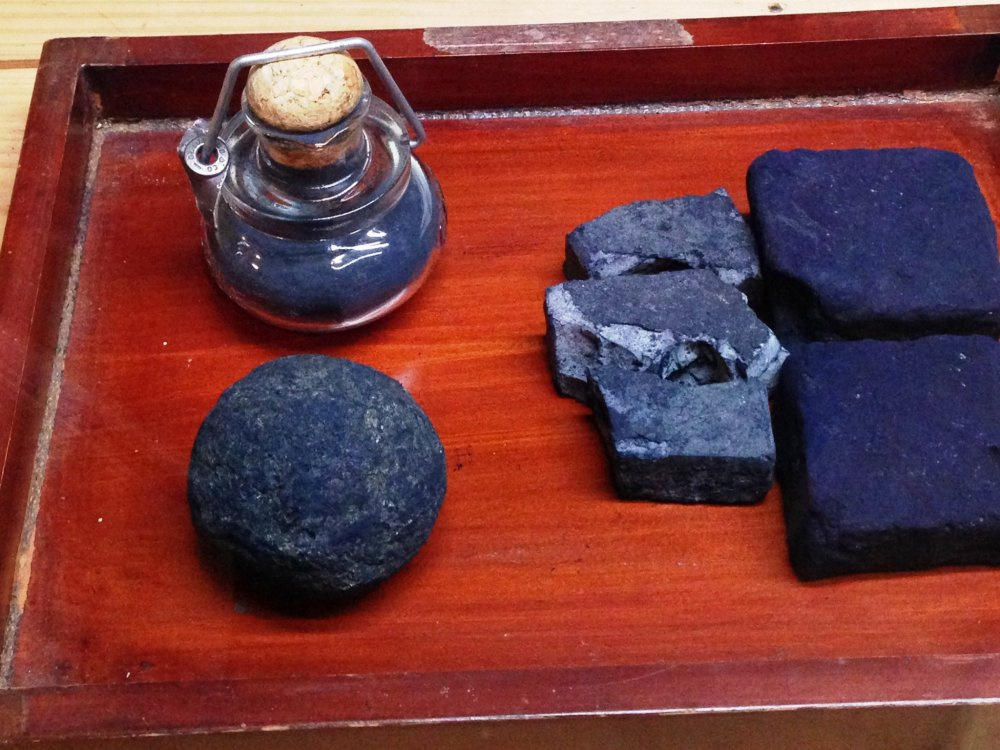 Three shades of Indigo. Feel, smell and see the brilliance of hand made indigo textiles.