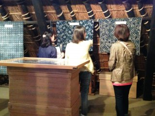 Upstairs in the attic are Indigo textiles from Japan and around the world.