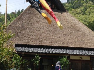 The Little Indigo Museum is housed in the largest thatched house in Kita Village, Miyama.