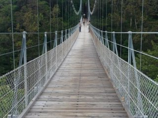Suspension bridge, called the Love Call Bridge