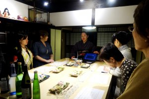 The workshop includes both a lecture on how sake is made and then a tasting session to identify the characteristics of the different types