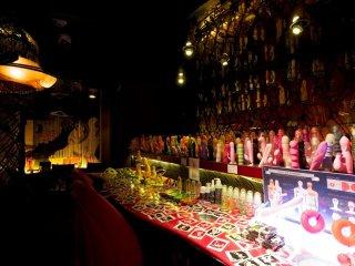 Gros plans sur les produits du bar
