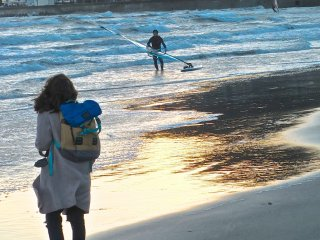 Have your camera ready if surfers are out enjoying the waves