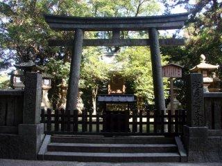 A torii gate at Konpira-san