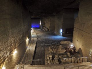 This is the first view that visitors see upon entering the quarry. It is very impressive.