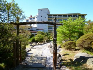Miyazaki Ryokan sits right beside the entrance to the trail and directly overlooks the site.