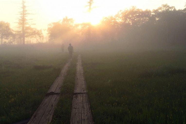 Перед походом: Утренний вид в Озэ