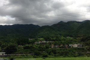 Rolling into Gifu on the Wide View Hida