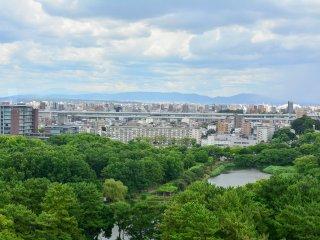 頂樓所看到的名古屋城