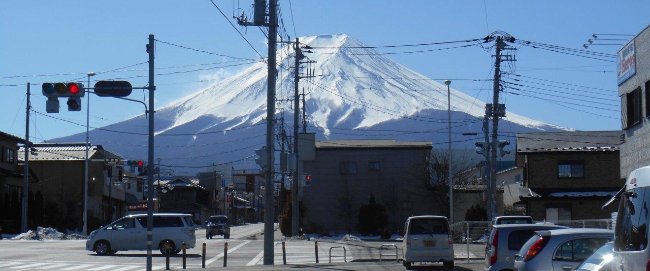 Arrivée à Fujiyoshida