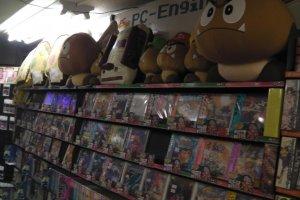 Lots of vintage video game merchandise
