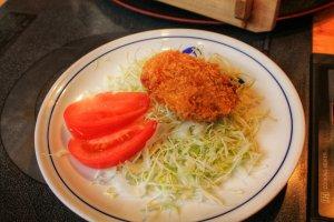 Des croquettes de kurobuta frit