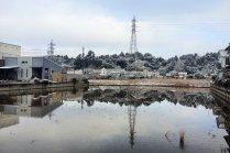 หิมะโปรยปรายบนชายฝั่งทะเลของชิบะ
