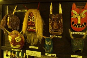 Traditional Namahage masks.