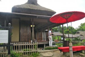 La maison de thé Hoshodai dans le jardin Genkyu-en
