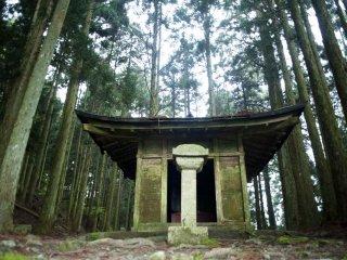 A moss-covered shrine