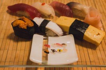 Tiny Sushi at Sushiya no Nohachi