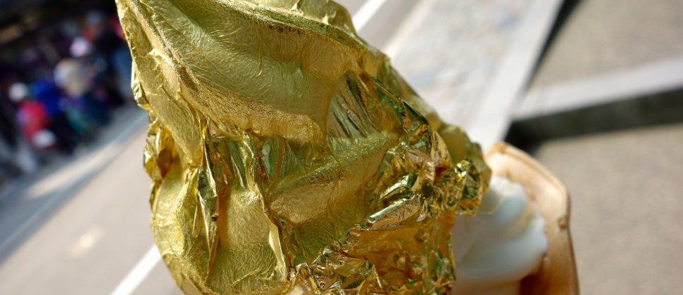 ไอศครีมทองคำเปลวที่ฮะคุอิชิ