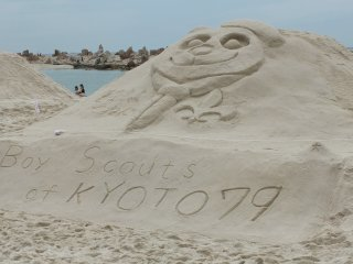 One of the many sand art creations