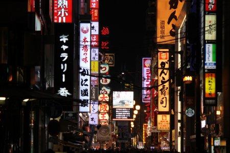 La vida nocturna de Osaka