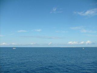 Vous verrez d'autres bateaux au loin