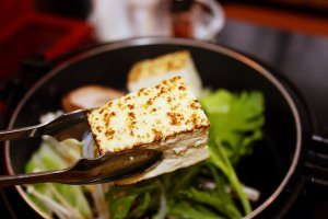 Grilled tofu served at the hotel's restaurant