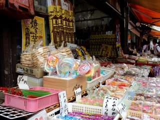 Dulces en el mercado