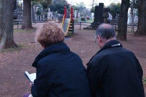 Anita and Jean Francois writing haiku